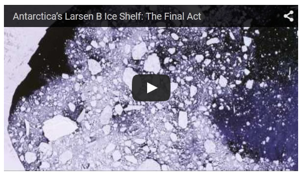 NASA Study Shows Antarctica's Larsen B Ice Shelf Nearing Its Final Act