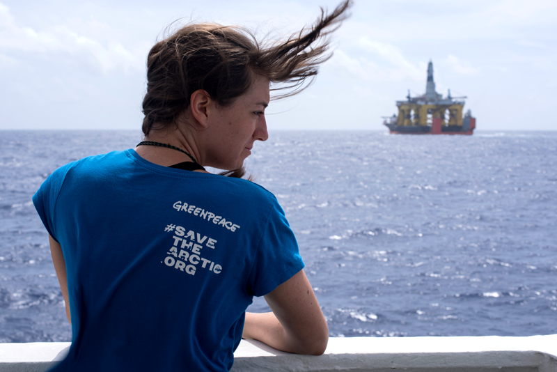 Get live updates of Greenpeace's journey following a Shell Arctic drilling platform