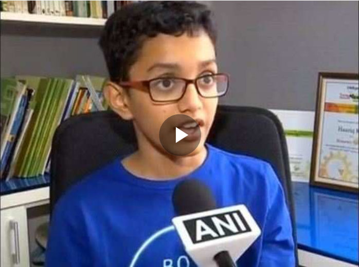 Screenshot_2019 09 24 12 year old Pune boy designs ship 'ERVIS' to clean ocean 1