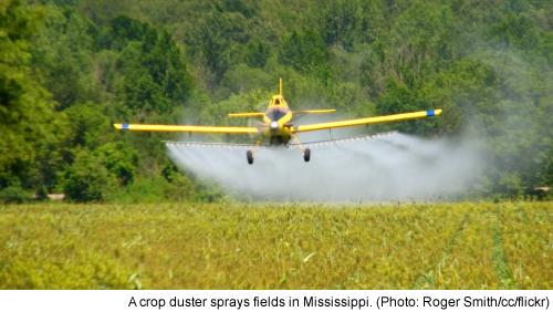 Monsanto's Glyphosate Blankets GMO Crops Near Schools