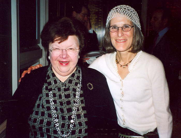 Senator Barbara Mikulski with Zohara in the early 2000s